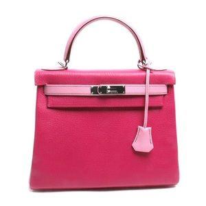 Hermes Horseshoe Fuchsia Pink Chevre Kelly Bag